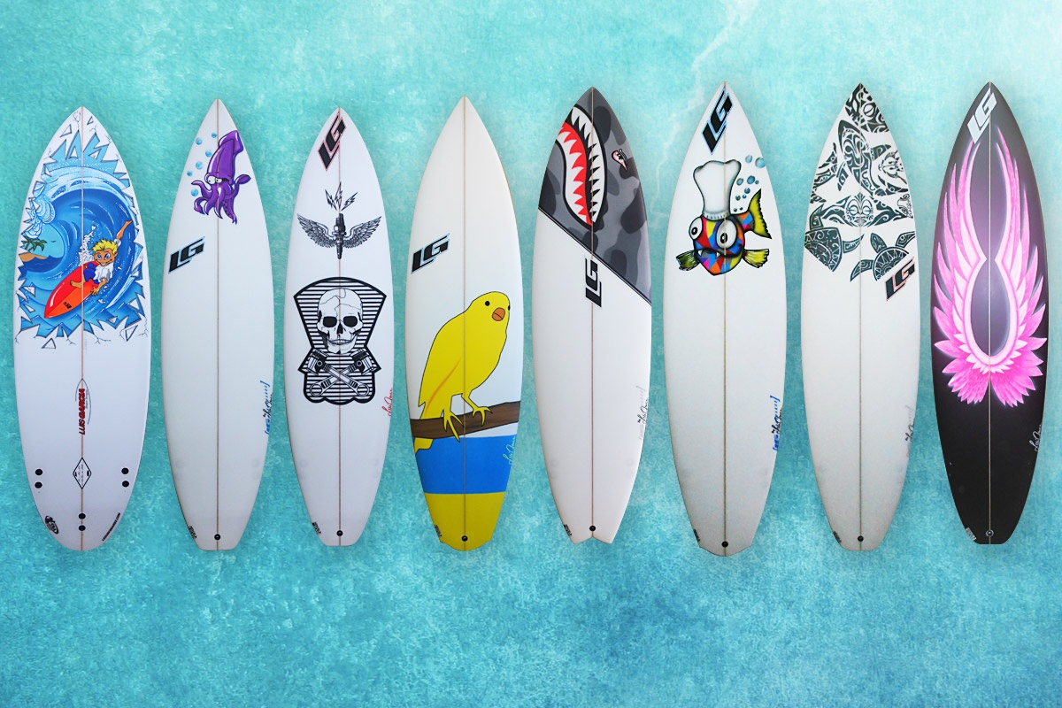 Personaliza tu tabla lg surfboards - Tabla surf decoracion ...